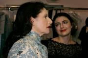 Луиза Беккария с дочерью Лучиллой перед началом показа осень-зима 2013/14
